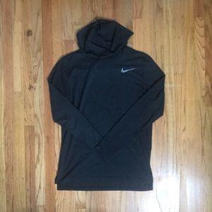 Nike shirt hoodie grey
